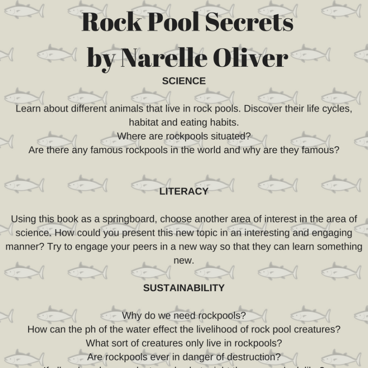 SCIENCELearn about different animals that live in rock pools. Discover their life cycles, habitat and eating habits.Where are rockpools situated?Are there any famous rockpools in the wor